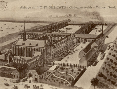 1898 vue cavaliere de la Brasserie du Mont des Cats - bire trappiste franaise