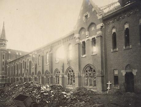 1918 dégat guerre Brasserie du Mont des Cats - bière trappiste française