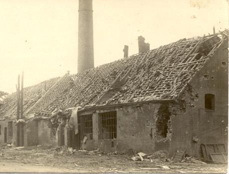 1918 Degats de guerre Brasserie du Mont des Cats - bière trappiste française