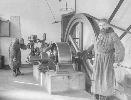 1930 groupe electrogene Brasserie du Mont des Cats - bière trappiste française