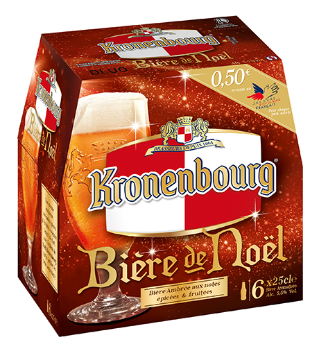 Bière de Noel solidaire de Kronenbourg