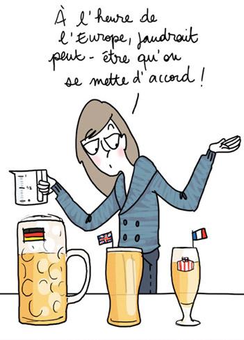 Buveuse de bière