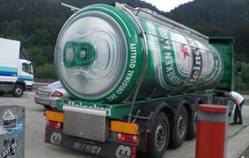 Street Marketing Biere Heineken