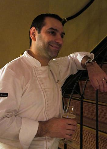 Le chef Thomas Boullault du restaurant étoilé l'Arôme de Paris