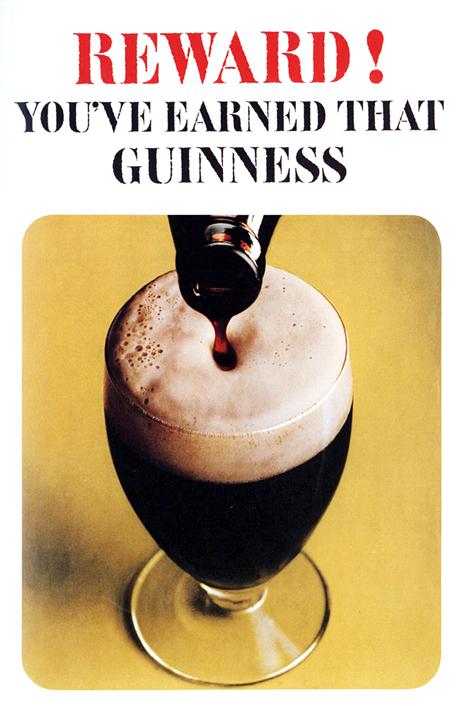 Les affiches du temps passé quand la pub s'appelait réclame .. - Page 20 Guinness-affiche-3